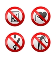 set prohibited signs - medicine vector image