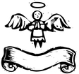 Tiny Angel Banner vector image