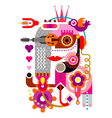 abstract portrait vector image vector image