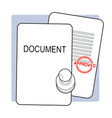 approved document concept vector image