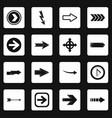 arrow icons set squares vector image