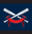 baseball bats with ribbon vector image