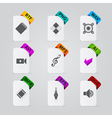 collection of file extension detailed icons vector image