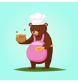 Cute cartoon Bear with Honey vector image