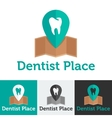 flat dental clinic logo set vector image