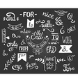 hand drawn ampersands and catchwords The with from vector image