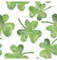 st patricks day background leaves seamles vector image