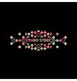 Tribal colorful logo vector image
