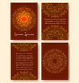 Brochure flyers template with eastern motifs and vector image