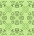 green seamless doodle pattern ethnic ornament vector image