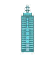 business building isolated icon vector image