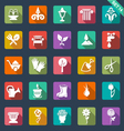Gardening icons- flat design vector image