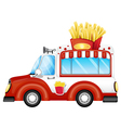 A vehicle selling fries vector image vector image