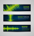 Music banners set vector image