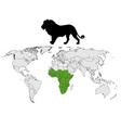 lion distribution vector image vector image