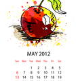 calendar with fruit for 2012 may vector image vector image