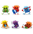 cute beast icon vector image