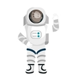 Male astronaut cartoon colorful icon vector image