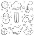 doodle of weather set hand draw vector image