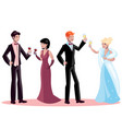 man and woman in evening dress vector image