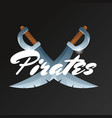 pirates game element with crossed swords vector image