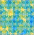 Retro geometric hexagon seamless pattern vector image