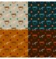 Set of coffee seamless patterns vector image
