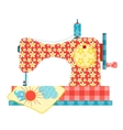Sewing machine on white vector image