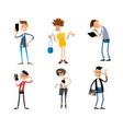 Six modern teenagers vector image