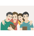 Students group eps10 format vector image