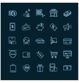 Shopping E-commerce icons on a black background vector image vector image