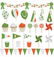 irish decorations vector image vector image