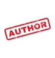 Author Text Rubber Stamp vector image