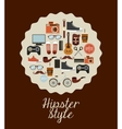 hipster style design vector image