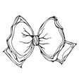 gift bow ribbon ink isolated vector image