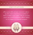 Cinderella princess invitation template vector image vector image