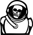 Zombie Astronaut vector image vector image