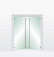 Glass transparent door vector image vector image