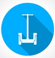 Circle blue icon for alternative transport for vector image