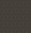 Abstract geometric line hexagon seamless pattern vector image