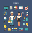 Set of Icons and in Flat Design Style Male and vector image vector image