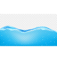 Transparent blue waves of water vector image