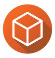 box cube line flat logo icon vector image