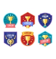 Cup winner logo Emblems set vector image