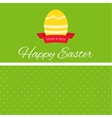 Easter egg with ribbon banner vector image