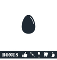 Egg icon flat vector image