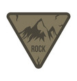 mountain labels in vintage style vector image