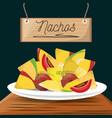 nachos mexican food menu restaurant vector image