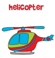 Transportation of helicopter cartoon for kids vector image