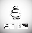 Zen spa stones meditation logo vector image